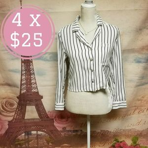 NWT Forever21 striped button down shirt